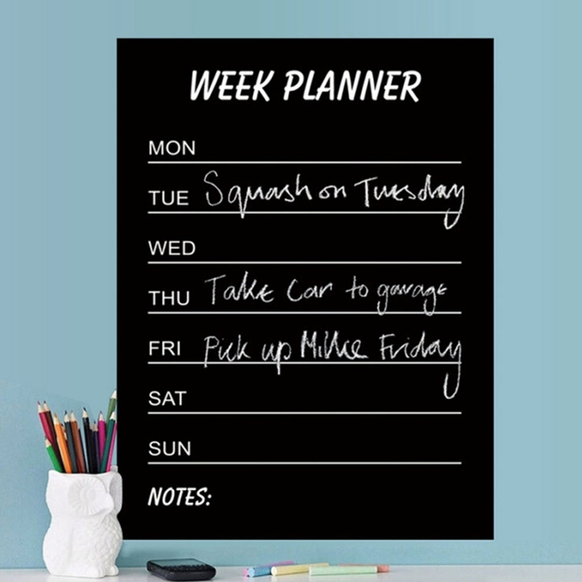 Removable PVC Week Planner Wall Stickers for Bedroom Decal Mural Wallpaper Vinyl Home Decoration Wall Sticker DIY Board Study 5