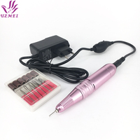 New Arrival Electric Manicure Machine Nail Drill Pen Shaped Portable Electric Nail File drill 1set 6bits nail art