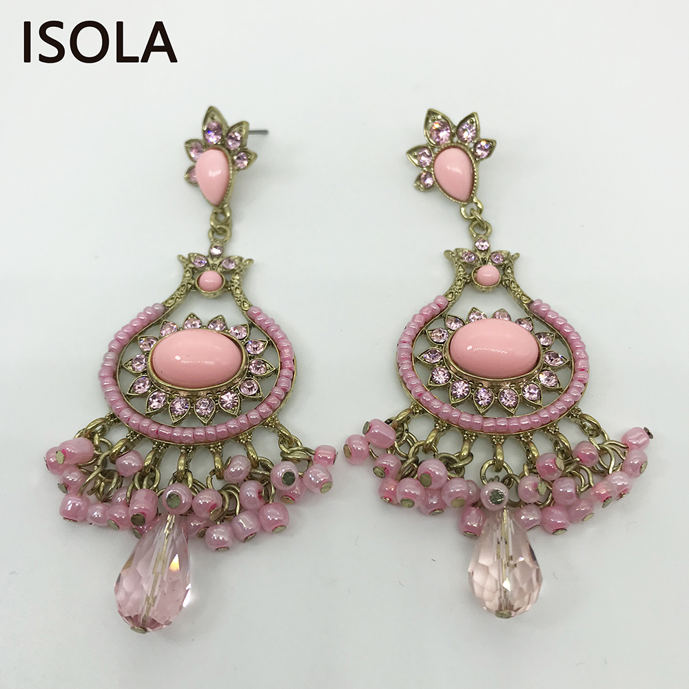 Charming Chandeliers That Make A Statement: ISOLA Statement Charming Rhinestone India Style Vintage