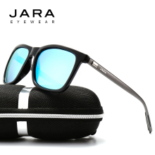 JARA Fashion Aluminum TR90 Polarized Sunglasses Women Eyewear Unisex 2017 Squre Designer UV400 Driving Sun Glasses Men A387