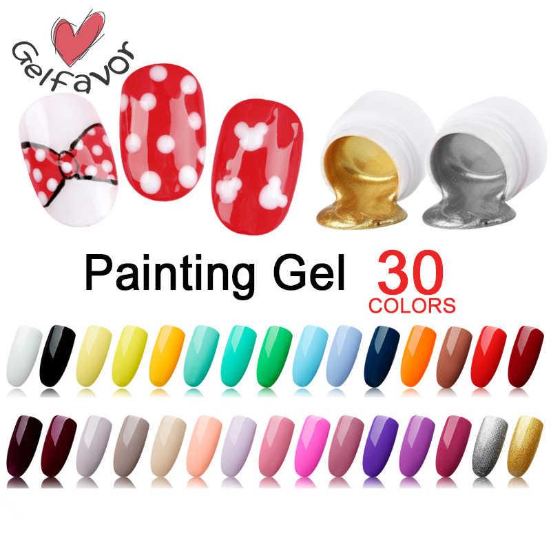 Gelfavor5ml lakiery do malowania żelem baza pająka do lakier do paznokci Semi Permanent UV zestaw żel do paznokci do Manicure Top Primer