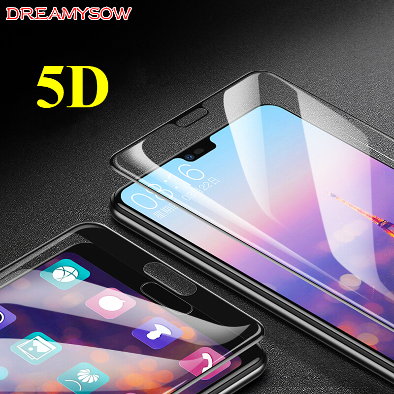 5D Curved Tempered Glass For Huawei P20 Pro/Lite Nova 3E P10 Lite Plus P8 Mate10 9 Lite Honor 9 V9 Toughened Screen Protector