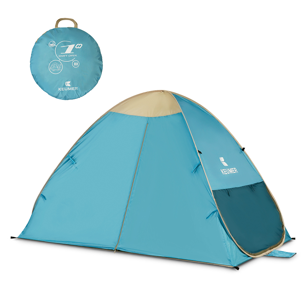 KEUMER Automatic Instant Pop Up Beach Tent Lightweight Outdoor Tent UV Protection Camping Fishing Tent Cabana