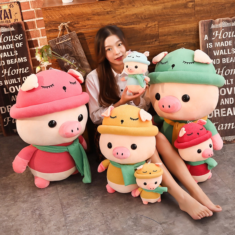 1pc 25 35 50cm Lovely Colorful Pig with Clothes Stuffed Cute Animal Pig Plush Toys for Children Kids Appease Doll Birthday Gift in Stuffed Plush Animals from Toys Hobbies