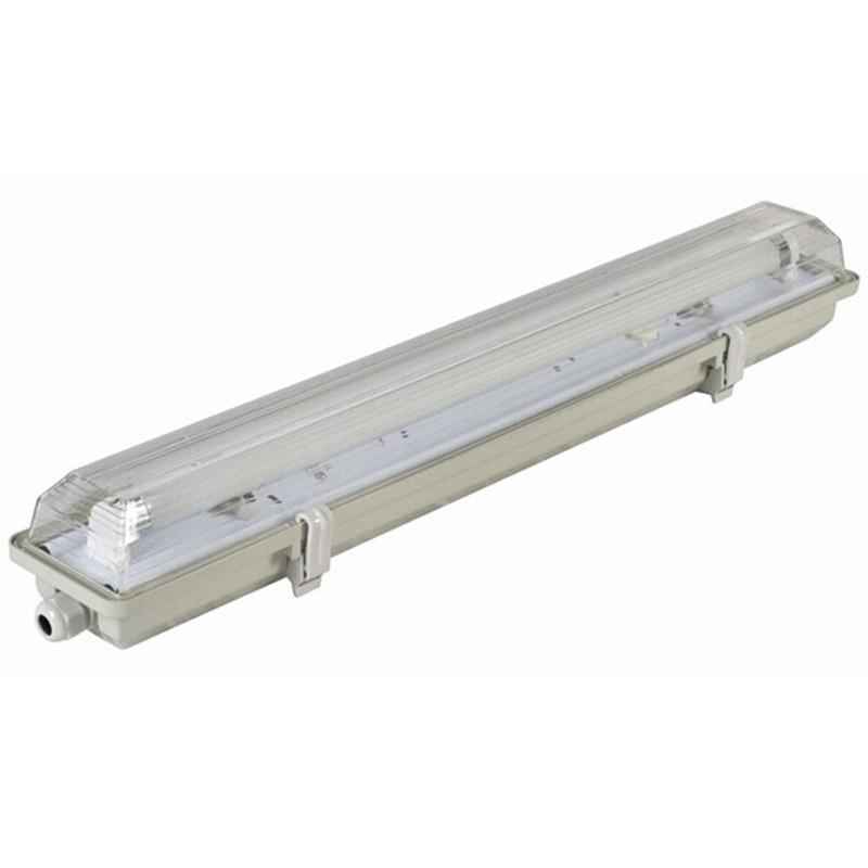 Wholesale 2 Feet(0.6M) 10 Watt Frosted Lens LED Tube Light With Tri-proof Fixture AC100-245V Warm White LED Tri-proof Light 10x 5w watt 2r2 2 2 ohm 5