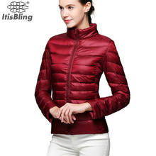 Autumn Winter 90% White Duck Down Jacket Coat 2016 Women Plus Size Stand Collar Warm Thin Short Parka Outwear Coats