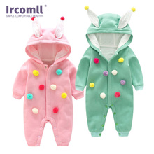 Ircomll Infant Baby Rompers Spring Autumn Cartoon Cotton