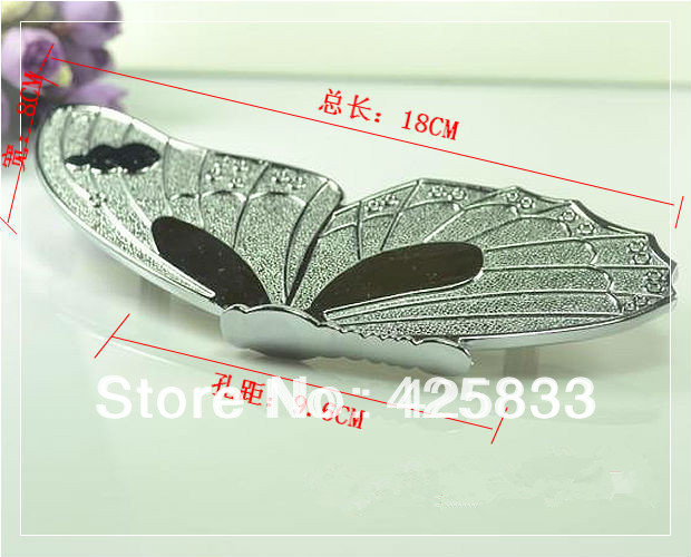 Free Shipping 96mm Silver Butterfly Antique Bronze Zinc Alloy Drawer Handles Kids Children Cabinet Knobs Kitchen Pulls death note necklace japan anime l ryuuzaki zinc alloy silver necklaces retail bulk free shipping