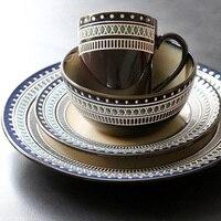 4 Piece Western Ceramic Tableware Set Coffee Mug Cup Salad Bowl Ramen Bowl Soup Bowl Dinner Set Porcelain
