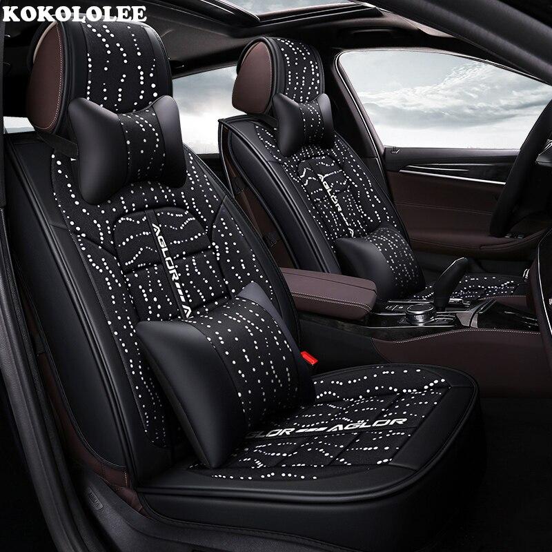 KOKOLOLEE housse de siège de voiture Pour ford focus 2 3 S-MAX fiesta kuga ranger accessoires mondeo mk3 Automobiles housses de siège de voiture -style