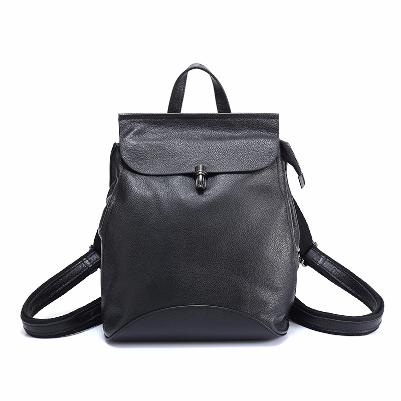 Fashion 100% Real Soft Genuine Leather Women Backpack Female Popular School Ladies Laptop Bag Girls Notebook Mochilas MujerFashion 100% Real Soft Genuine Leather Women Backpack Female Popular School Ladies Laptop Bag Girls Notebook Mochilas Mujer