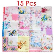 15 шт хлопок Марля Муслин квадратный прекрасный цветочный узор платок полотенце