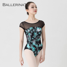 Collant ballet para mulheres yoga sexy dança formação profissional ginástica impressão digital collants bailarina 3570