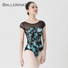 บัลเล่ต์Leotardสำหรับผู้หญิงโยคะเซ็กซี่เต้นรำProfessionalการฝึกอบรมยิมนาสติกการพิมพ์ดิจิตอลLeotards Ballerina 3570