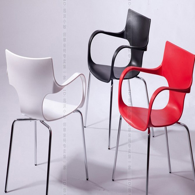 2014 Special promotion Armrest sofa chair, Metal+ ABS chair, stylish dining chair, bar chair,Dining Room Furniture