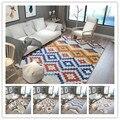 Ковер в скандинавском стиле с геометрическим рисунком  нескользящий коврик для ванной комнаты  ковры для гостиной  спальни  супер мягкие ко...