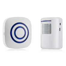 лучшая цена Digital Wireless Doorbell Welcome Body Door Bell with Sensor Infrared Detector Induction Alarm Home Security