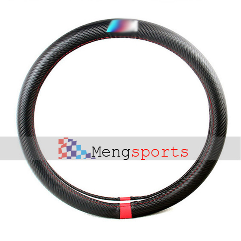 6pcs lots Steering Wheels Real Carbon Fiber Hubs M Line Series Embelm Badges Car Styling Shipping Free