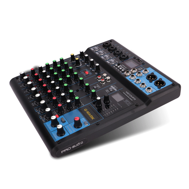 G MARK Audio Mixer Console Music Studio 24 Spx Effect Eco Digital Output 48V