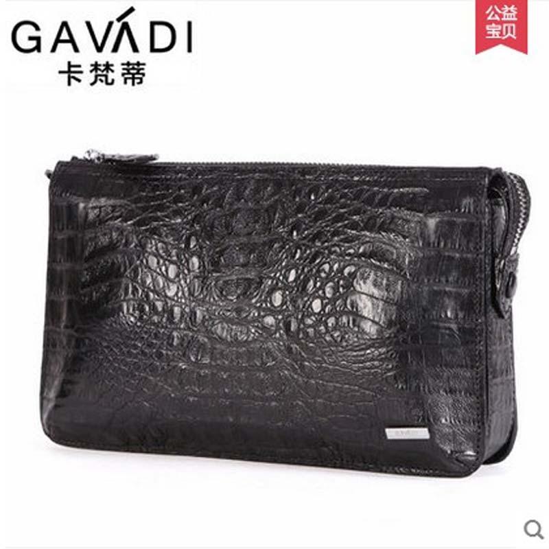 kafandi crocodile leather men handbag men clutch bag business authentic man's hand grab bag of new large-capacity hand bag цена