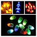 100 Unids/lote 2017 Min Fiesta de Luz Led Lámpara de la Linterna de Papel Del Banquete de Boda de Navidad Decoración Floral Deco Cotillon Led partido