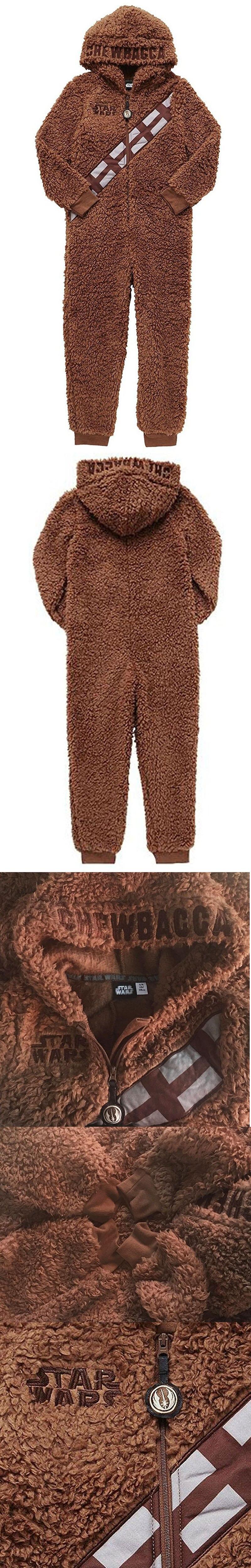 Star War Boys Chewbacca Hooded Pajamas Cosplay Coral Fleece Kids Pajamas  Autumn Winter Warm Children Sleepwear 381d9314f