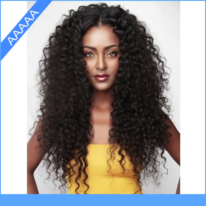 Fashion hairstyle long curly lace wig #1Jet black Brazilian wigs ...