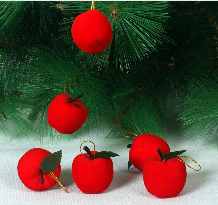 18pcs apple christmas decorations for home christmas tree for Decoraciones de navidad para el hogar