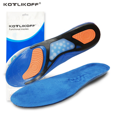 KOTLIKOFF Gel insoles silicone shoes pads for Plantar Fasciitis Heel Running Sport Insoles Shock Absorption Pads soles insert