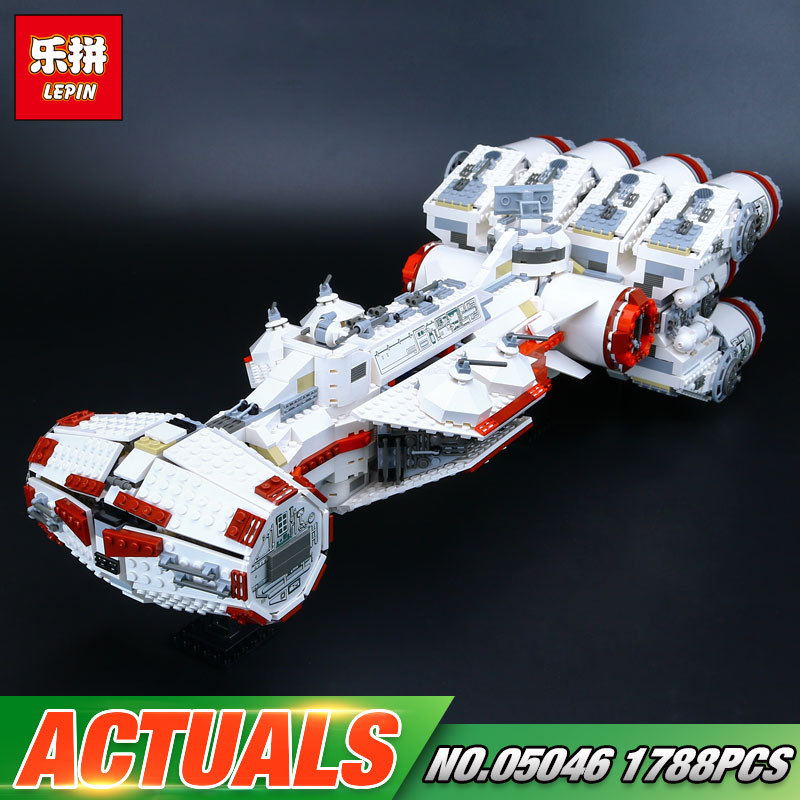 Lepin 05046 Star Series War New 1748Pcs The Star Blockade Set Runner Building Blcoks Bricks The Tantive Toys IV 10019 taming the star runner