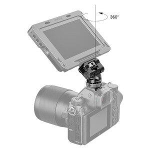 Image 5 - Soporte de cámara pequeña EVF giratorio, 360 grados e inclinación, montaje de Monitor de 140 grados con adaptador de micrófono para Flash de zapata fría, 2346