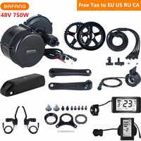 48 v 750 watt Bafang 8fun BBS02B Mitte Antrieb Motor Electric Bike Conversion Kit Mit 48 v 17AH Lithium Ebike batterie C961 C965 Display