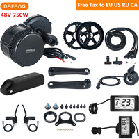 48V 750W Bafang 8fun BBS02B Mid Drive Motor Electric Bike Conversion Kit With 48V 17AH Lithium Ebike Battery C961 C965 Display