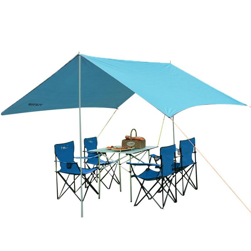FLYTOP 300cm*290cm outdoor awning camping shade canopy gazebo for garden single tent sun shelter beach tarp 15 colors