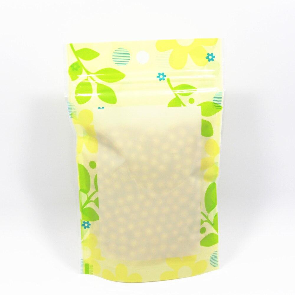 DHL 800 шт./лот герметичная застежка Пластик Еда хранение Doypack вечерние сумки зеленый подставка с листом с прозрачным окном с повесить отверсти...