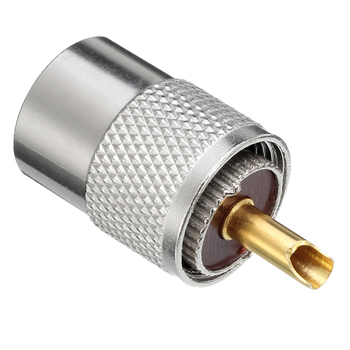 10 X PL259 UHF Konektörü Erkek Fiş Redüktör RG8X Koaksiyel Kablo + Tüp UHF RG8X Konnektörleri