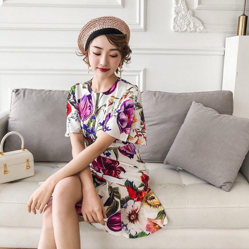 Printemps Partie Européenne D02543 Supérieure Luxe Design Célèbre Style Femmes De 2019 Mode Qualité Marque Nouvelle Robe XPwOPZ