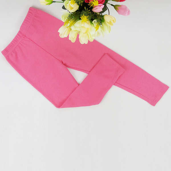 Casual Kids Girl's Skinny Pants Solid Stretch Leggings Trousers Underpants