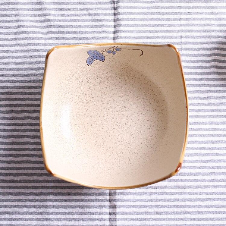 Creative Japan Style Plant irregular ceramic bowls porcelain tableware thick high quality noodle soup bowl 9 inch fruit bowls
