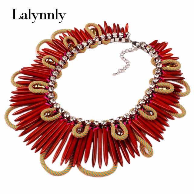 2016 Venta Caliente de La Nueva Moda de la joyería exagerada coloridos de la turquesa de piedra colgante collar para Las Mujeres/Girl regalos N30991