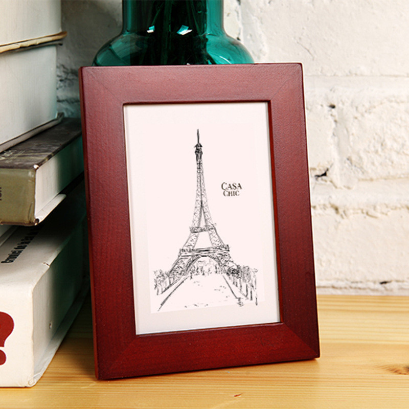 14 Colors Solid Wood Photo Frame Size 5 6 7 8 10 12 inches A4 ...