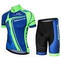 Radfahren Kleidung Mann Radfahren jersey set 2019 Sommer männer Set Ropa Ciclismo Himmel Blau Kurzarm MTB Bike Mann BMX Pro Kleidung