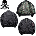 Industria MMJ Mastermind X Alfa MA1 Bomber Jacket Piloto Hombres Japón fantasma 3d Jakets Alta Calidad Kanye West Hip Hop Ropa Veste