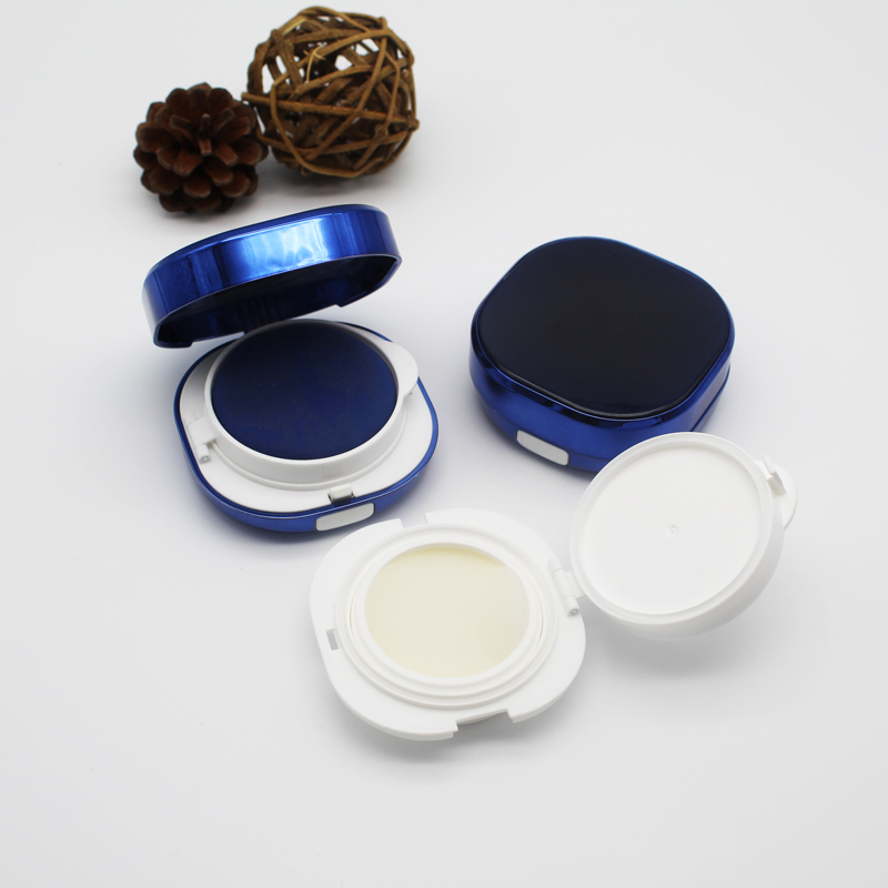 2/10/20pcs DIY Blue Cosmetic Makeup Plastic DIY BB CC Cream Air Cushion Powder Puff Box Containers Foundation Refillable Bottles chanel 5ml cc cc cream
