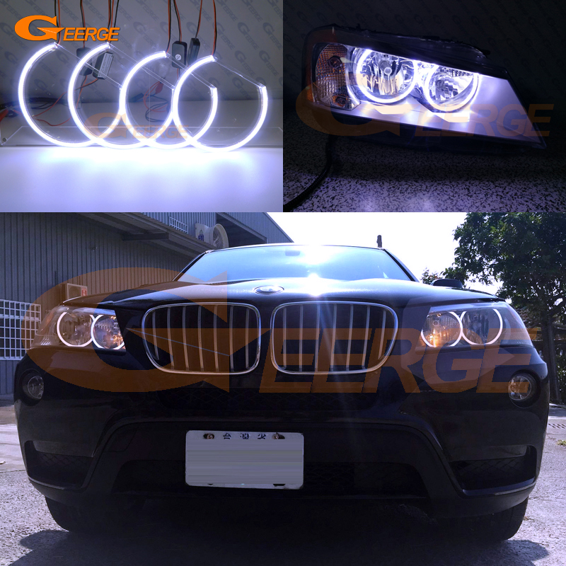 For BMW X3 F25 2010 2011 2012 2013 2014 HALOGEN HEADLIGHT Excellent Ultra bright illumination COB led angel eyes kit halo rings for alfa romeo mito 2008 2009 2010 2012 2013 2014 2015 excellent angel eyes ultra bright illumination cob led angel eyes kit