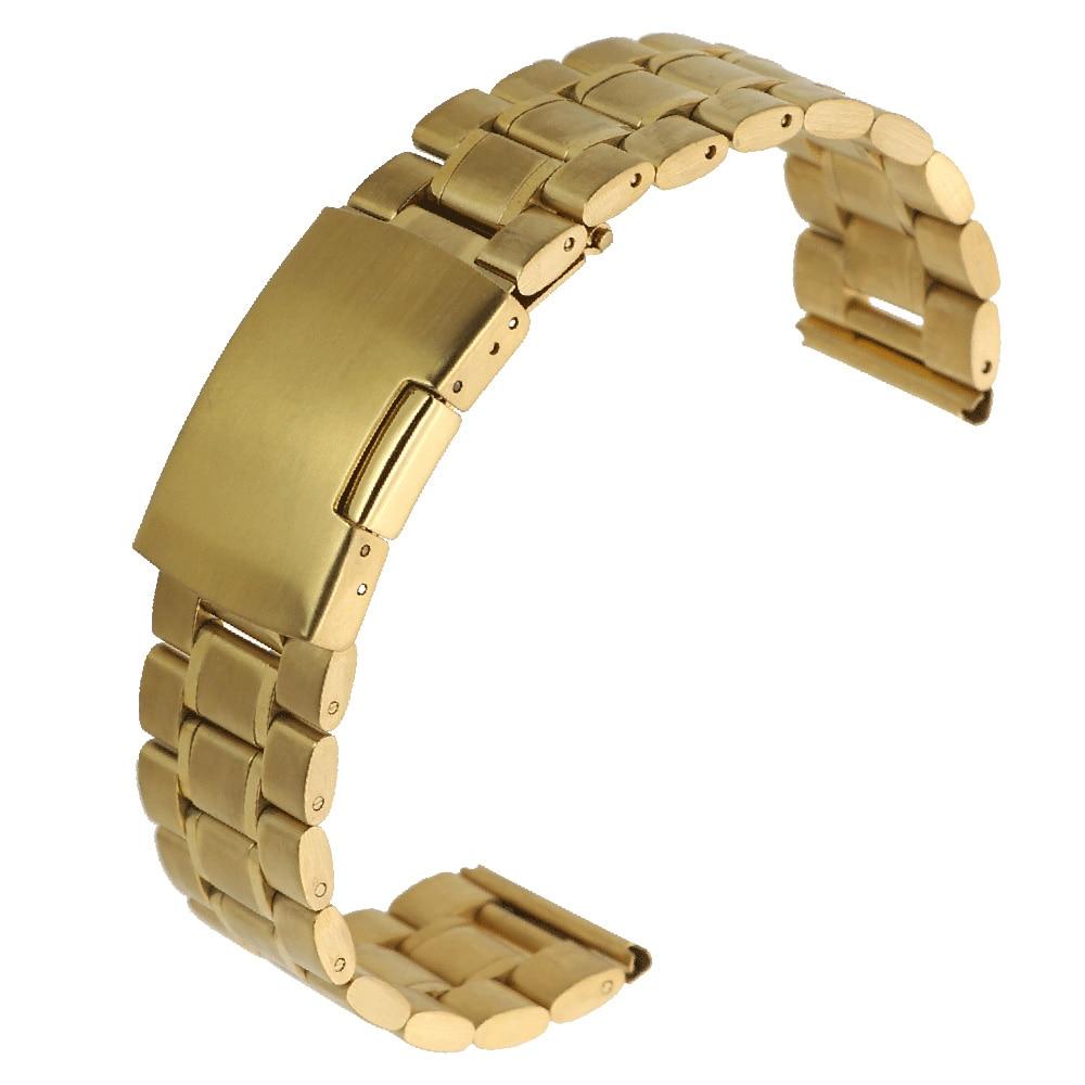 ZLIMSN rustfrit stål urbånd implementering lås sølv sort guld - Tilbehør til ure - Foto 3