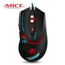 IMICE Wired game Gaming Mouse LED Optical 6 Buttons Computer Mouse USB 2400DPI Gamer Mice For PC computer Laptop Desktop mouse 2016 imice x8 2400dpi led optical 6d usb wired game gaming mouse gamer for pc computer laptop perfect upgrade combine x7 x9
