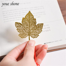 1Piece Bookmark Metal Leaves Veins Small Fresh Minimalist Retro Vivid Creative Gifts Bookmarks Students Gifts Good Material