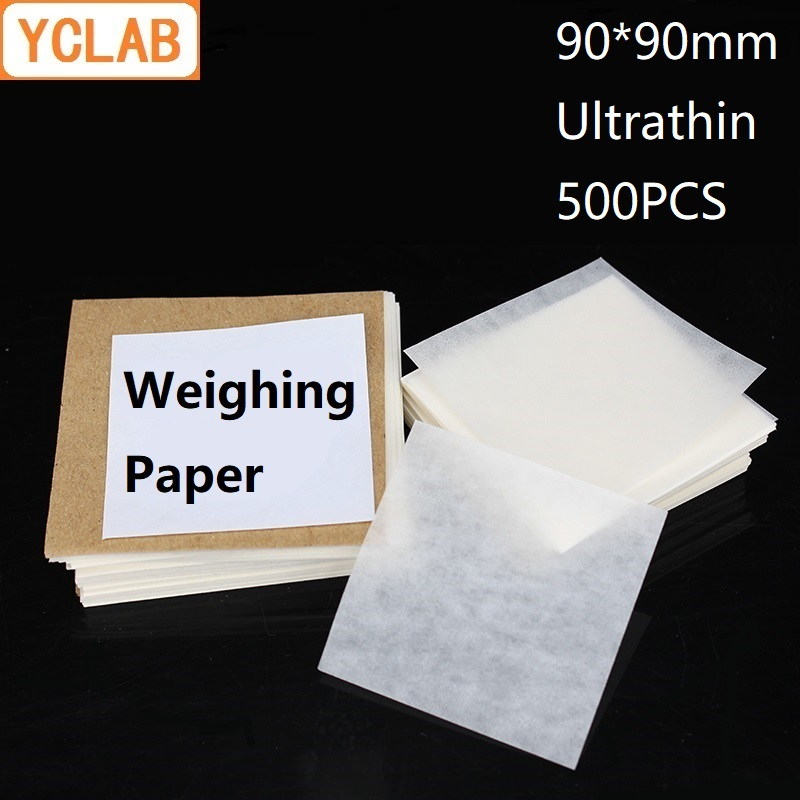 YCLAB 90*90mm Weighing Paper Square Ultrathin 500PCS / Pack Laboratory Chemistry Equipment