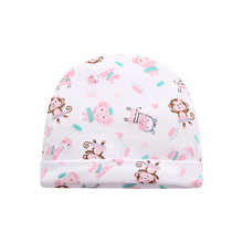 Hot Sale Newborn Boy Girl Baby Caps 100% Cotton Cute Print Infant Baby Hats Autumn 0-6 M Baby Accessories 3 Pieces/lot